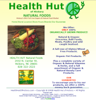 Health Hut Natural Foods website (Hickory, NC)