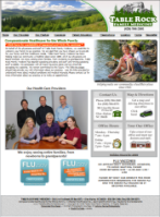 Table Rock Family Medicine's website (Glen Alpine, NC)